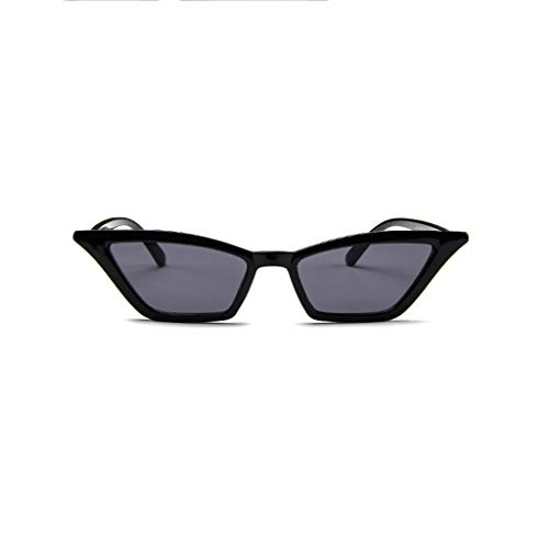 Women Retro Vintage Cateye Sunglasses, UV Protection, Plastic Frame Fashion Glasses (Black) ()