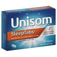 (Unisom SleepTabs, Nighttime Sleep-Aid Tablets, 80 ea - 2pc)