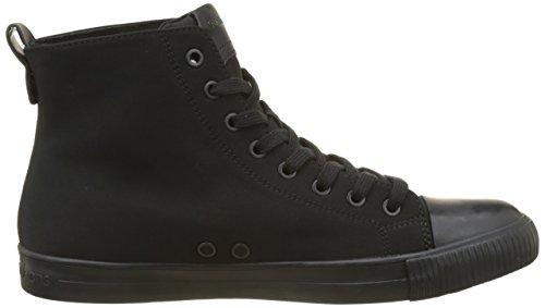 Nylon Black Black Calvin Herren Schwarz Sneaker Klein Ajax Flocking qwvFt