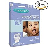 Health & Personal Care : Lansinoh Breastmilk Storage Bags, 25-Count Boxes (Pack of 3)