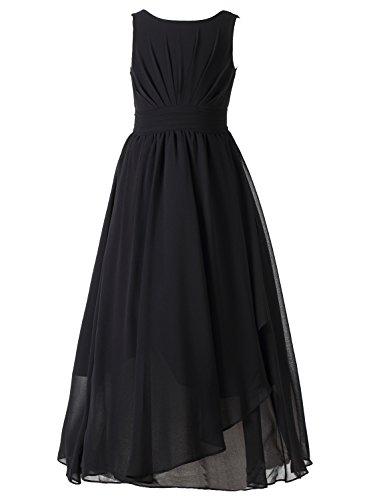 Happy Rose 7-16 Chiffon Girls Junior Bridesmaid Dress Black 12 Chiffon Junior Bridesmaid Dresses