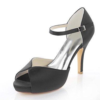Red Women'S Purple Sandals Toe Peep Satin Black Stretch Shoes Wedding Blue Black Sandals Dress wffAqZv1x