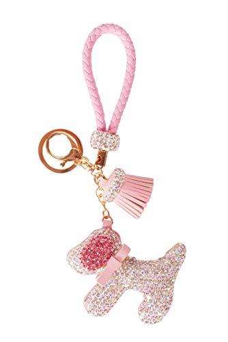 Bewaltz Diamond Charm Dog Keychain Bag Charm, Birthday Gifts, Girls Jewelry