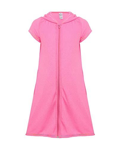 UDIY Girls Terry Hoodie Swimsuit Beach Cover Up Dress Swim Robe, ()