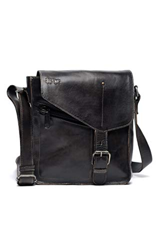 Bed|Stu Women's Venice Beach Leather Bag (Black Rustic)