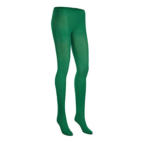 [NovaLava] Womens Semi Opaque 80 Denier Footed Pantyhose Tights Green, One -