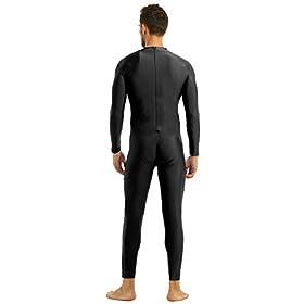 YiZYiF Men's One Piece Turtleneck Spandex Long Sleeve Unitard Bodysuit Adult Costume
