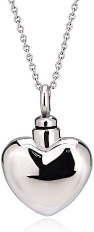 UNY Stainless Cremation Heart Necklace product image