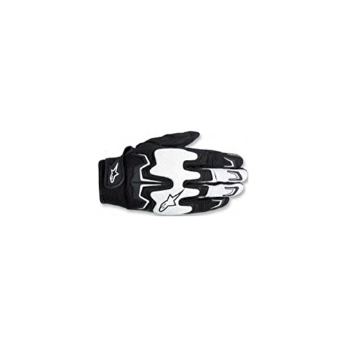 Men's Street Motorcycle Gloves - Black/White/Medium ()