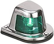 Attwood 66319G7 1-Mile Sidelights, Pair, Stainless Steel Housing, Deck Mount, Each Provides 1-Mile, 112.5-Degr