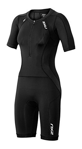 2XU Womens Compression Sleeved Trisuit, black/black, - Womens Trisuits
