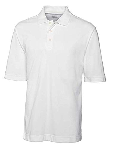 Cutter & Buck Men's Comfortable Pique Polo Shirt White XX-Large