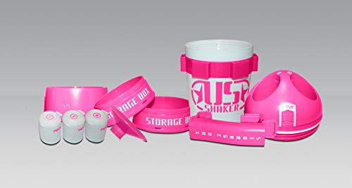 Shaker - Ultimate System Top Shaker Bottle, 24-Ounce, Snap on Storage (Pink)
