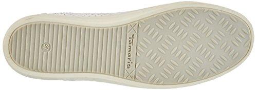 Tamaris 23604, Zapatillas para Mujer Blanco (OFFWHT. STR. # 925)