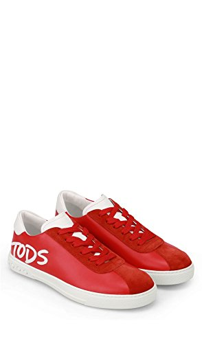 Tod's Men's XXM0XY0Y170TF83DDF Red Leather Sneakers clearance very cheap O6vfrx7Sl7