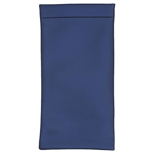 Eyeglass Pouch Glasses Sleeve With Squeeze Top Closure - Slip In Case & Holder For Sunglasses Eyewear & Frames For Men Women & Kids -Navy- By OptiPlix
