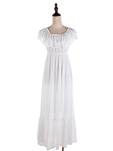 f631e0474b9 Anna-Kaci Womens Boho Peasant Ruffle Stretchy Short Sleeve Long ...
