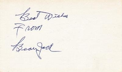Beau Jack Autographed Photograph - 3x5 inch index card Deceased 2000 - PSA/DNA Certified - Boxing Cut Signatures