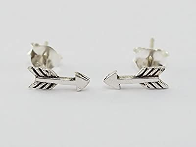 "925 Sterling Silver Earring Cartilage For Women Ear Stud Helix Arrow 3/8"" in the length (10mmmeasured from the longest part) S6"