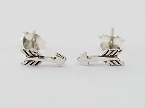 925 Sterling Silver Earring Cartilage For Women Ear Stud Helix Arrow 3/8