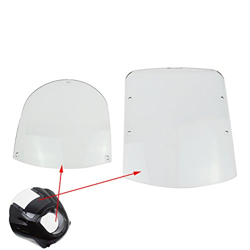 Rebacker Motorcycle ABS Windshield Quarter Fairing Kit for Sportster XL 883 1200 88-16 Dyna Models 95-05 FXR 86-94