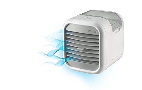 Homedics MyChill Personal Space Cooler, 4-Foot Cooling Area, Two Fan Speeds, Clean Tank Technology, Add Water, Plugs into 110v Outlet, Perfect for Office, Dorm, Nightstand, PAC-20 White by Homedics (Image #3)