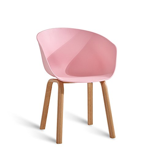 Lounge chair / dining room modern simple lazy chair / white fashion desk furniture / chairs ( Color : Pink ) by Xin-stool