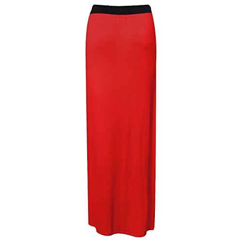 Rouge Femmes Jupe Maxi Jupe GirlzWalk t Longue Moulante Gypsy Jersey d0F7qqxwz