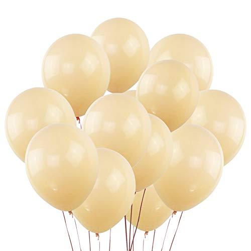 KUMEED Champagne Balloons Latex Balloons Globos Party Birthday Wedding Balloons Pack of 100 ()