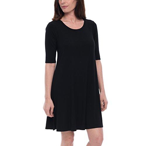 Petite Elbow - Cupio Blush Tee Shirt Dress, Black, X-Large
