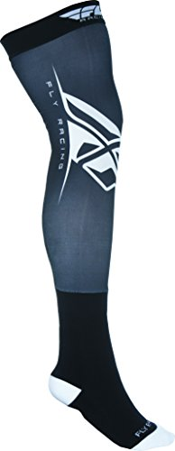 Fly Racing Unisex-Adult Knee Brace Socks (Black/White, Small/Medium) Fly Knee Brace