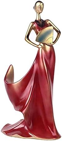 RWEAONT Belleza Modelo Modelo Rack Whisky Holder Estante Estante Botella Rack Práctico Escultura Soporte Casa Decoración Accesorios Accesorios Miniaturas (Color : Red)