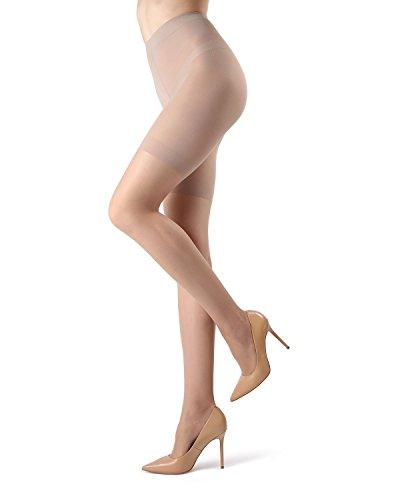 MeMoi Super Sheer Shaping Pantyhose | MeMoi Control Top Sheer Tights Nude MM 224 Small