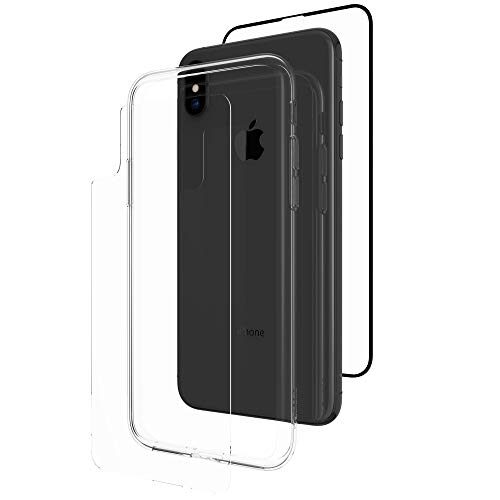 ZAGG InvisibleShield Glass+ 360 - Front + Back Screen Protection with Side Bumpers Made for Apple iPhone XS Max - Clear with Black Borders as Lining by ZAGG (Image #5)