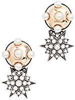 Anton Heunis Women's Omega Clasp Half Sphere & Star Earrings