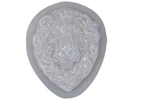 Lion Head Face Plaque Concrete Plaster Mold 7214