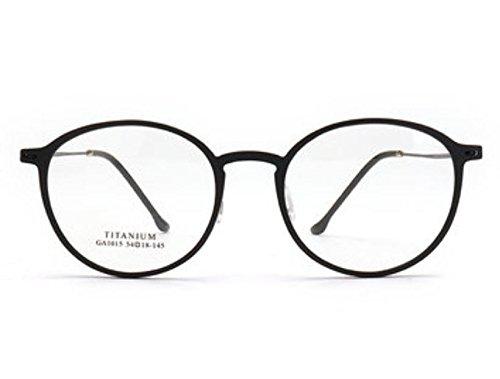 Plating Frame Titanium - Titanium Alloy& Board Glasses Frame IP Vacuum Plating Process by ShopIdea (Black)