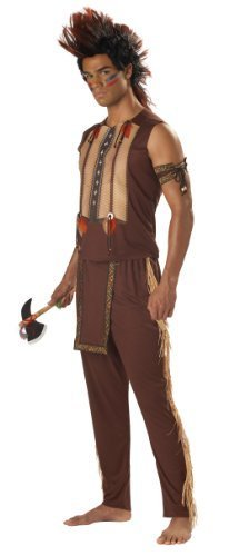 Costume Noble Mens Indian Warrior (Men's Noble Warrior Indian XL Fancy Dress Party Adult Costume Outfit by california)