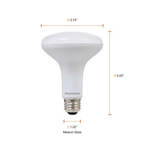 SYLVANIA General Lighting 73954 Sylvania Dimmable Led Lamp, 9 W, 120 V, Br30, Medium, 11000 Hr, Base, Efficient 9W, 2700K, Soft White, 2 Piece