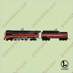 Hallmark Keepsake Oranment Set Mini LIONEL SOUTHERN PACIFIC RAIL ROAD Steam Locomotive and Tender 2004 QXM5131