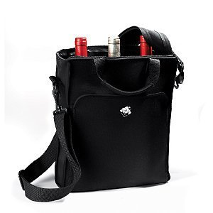 Wine Enthusiast 3-Bottle Neoprene Wine Tote Bag Home Supply Maintenance Store