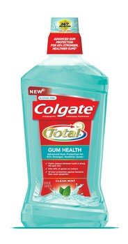 Flavored Mint Mouthwash (Colgate Total Gum Health Antiplaque Mouthwash, Clean Mint 33.8 Fl Oz (Pack of 2))