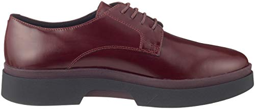 Dk Burgundy C7357 Derby de a Zapatos Cordones D para Mujer Geox Myluse wn1vaqwP