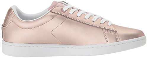 Lacoste Women's Carnaby Evo 117 3 Fashion Sneaker, Pink, 6 M US