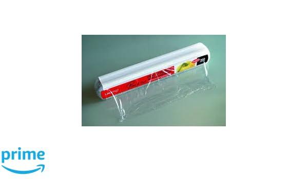 Linwrap - Rollo de papel de film para alimentación con corte automático (45 cm x 300 m): Amazon.es: Hogar
