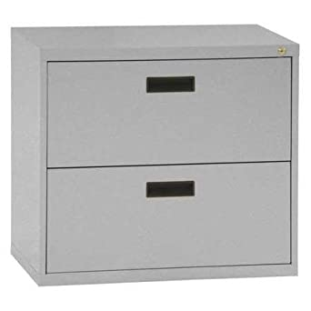 Sandusky Lee E202L MG 400 Series 2 Drawer Lateral File Cabinet, 18u0026quot;  Depth