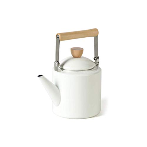 Gas White Cooker (2L Enamel Galaxy Starry Whistle Kettle Teapot Self-sounding Pot Induction Cooker Gas (color : White))
