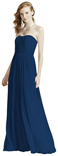 Versa Convertible Mesh Bridesmaid Dress Style F15782, Marine, 18 by David's Bridal