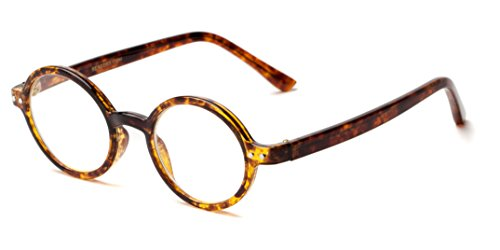 Readers.com The Bookworm +1.50 Marbled Brown Affordable Round Frame Best Sellers Reading - Round Glasses Lens Reading