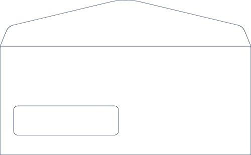 #10 White Left Window Envelopes - Size 4 1/8 X 9 1/2 - 24lb. - 100 Envelopes - Superfine Inc. Brand